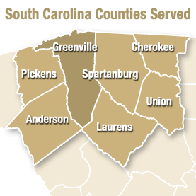 South Carolina Counties Served