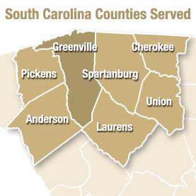 South Carolina Counties Served
